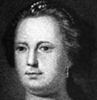 Mrs. Benjamin Franklin, from an engraving of the painting owned by Prof.         Hodge