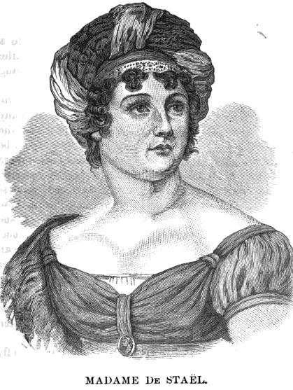 Madame de Staël. From James Parton,                                      Daughters of Genius.