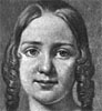 Jenny Lind about 18 years of age from a picture by A. J. Fagerplen. From Henry Scott Holland and William Smyth Rockstro, Memoir of Madame Jenny Lind-Goldschmidt.