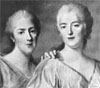 Adelaide, Victoire and Sophie, third, fourth, and fifth daughters of Louis XV. By         Drouais.